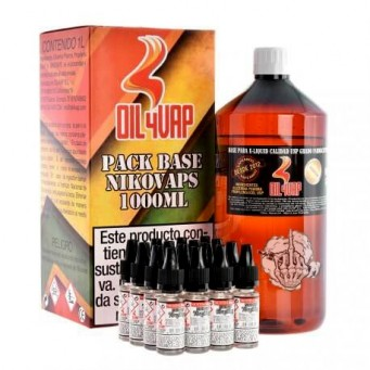 Pack Base Oil4Vap 1L 50PG/50VG TPD 3 mg