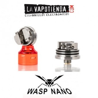 Wasp Nano RDA de Oumier Transparente Red