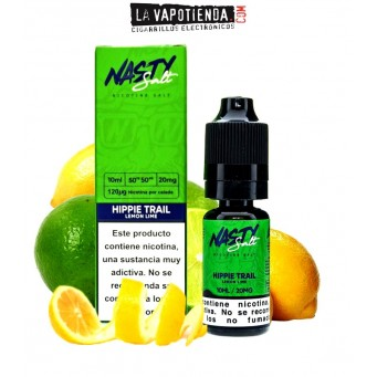 Hippie Trail Lemon Lime   Sales de nicotina 10 ml  Nasty Salt