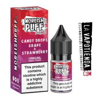 Grape & Strawberry 10ml by  Moreish Puff - Sales de Nicotina