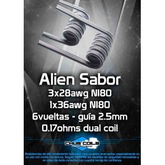 Alien Sabor 0.17ohms Dual Coil de Chus Coils