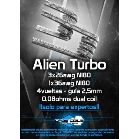 Alien Turbo 0.08ohms Dual Coil de Chus Coils